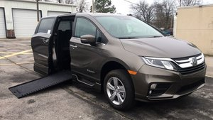 New Wheelchair Van For Sale: 2019 Honda Odyssey L Wheelchair Accessible Van For Sale with a BraunAbility Honda Power Infloor on it. VIN: 5FNRL6H79KB123481