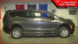 New Wheelchair Van For Sale: 2018 Chrysler Pacifica Touring Wheelchair Accessible Van For Sale with a BraunAbility BraunAbility Pacifica Foldout XT on it. VIN: 2C4RC1BG1JR136305