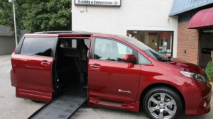 Used Wheelchair Van For Sale: 2017 Toyota Sienna Sport Wheelchair Accessible Van For Sale with a BraunAbility - Toyota Rampvan XL on it. VIN: 5TDXZ3DC7HS837220