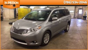 Used Wheelchair Van For Sale: 2016 Toyota Sienna XLE Wheelchair Accessible Van For Sale with a AutoAbility Wheelchair Van Conversions Rear Entry Toyota on it. VIN: 5TDYK3DC3GS701657