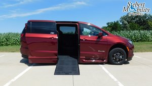 New Wheelchair Van For Sale: 2019 Chrysler Pacifica Touring Wheelchair Accessible Van For Sale with a BraunAbility Chrysler Pacifica Foldout XT on it. VIN: 2C4RC1FG5KR708357