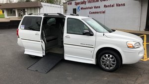 Used Wheelchair Van For Sale: 2007 Buick Terraza L Wheelchair Accessible Van For Sale with a BraunAbility Buick Entervan on it. VIN: 4GLDV13W07D200810