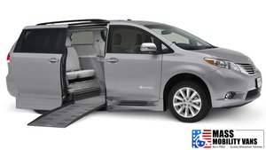 New Wheelchair Van For Sale: 2017 Toyota Sienna LE Wheelchair Accessible Van For Sale with a BraunAbility Toyota Rampvan Xi on it. VIN: 5TDKZ3DC5HS837601