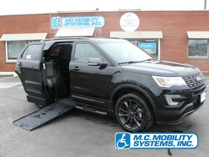 New Wheelchair Van For Sale: 2017 Ford Explorer LT Wheelchair Accessible Van For Sale with a Ford Explorer MXV on it. VIN: 1FM5K7D81HGD18099