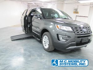 New Wheelchair Van For Sale: 2017 Ford Explorer LT Wheelchair Accessible Van For Sale with a Ford Explorer MXV on it. VIN: 1FM5K7D81HGE13858
