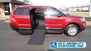 New Wheelchair Van For Sale: 2017 Ford Explorer LT Wheelchair Accessible Van For Sale with a Ford Explorer MXV on it. VIN: 1FM5K7D86HGE13855