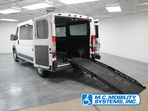 Used Wheelchair Van For Sale: 2016 Ram Promaster Low Roof Wheelchair Accessible Van For Sale with a Fullsize Conversion-ADA Ramp on it. VIN: 3C6TRVAG7GE105347