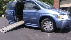 Used Wheelchair Van For Sale: 2007 Chrysler Town & Country Limited Wheelchair Accessible Van For Sale with a BraunAbility - Chrysler Entervan II on it. VIN: 2a8gp64l57r315175