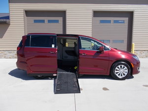 New Wheelchair Van For Sale: 2019 Chrysler Pacifica Touring Wheelchair Accessible Van For Sale with a Adaptive Side Entry on it. VIN: 2C4RC1FG3KR628913
