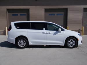New Wheelchair Van For Sale: 2019 Chrysler Pacifica Touring Wheelchair Accessible Van For Sale with a Adaptive Side Entry on it. VIN: 2C4RC1FG4KR628919