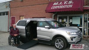 Used Wheelchair Van For Sale: 2018 Ford Explorer Limited Wheelchair Accessible Van For Sale with a BraunAbility MXV Wheelchair SUV on it. VIN: 1FM5K7F87JGA82187