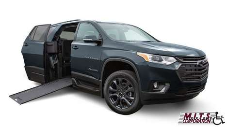 New Wheelchair Van For Sale: 2021 Chevrolet Traverse LE Wheelchair Accessible Van For Sale with a  on it. VIN: 1GNERHKW4MJ119396