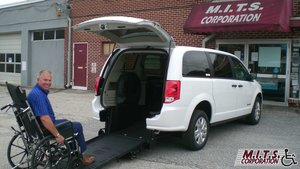 New Wheelchair Van For Sale: 2019 Dodge Grand Caravan SE Wheelchair Accessible Van For Sale with a BraunAbility Dodge Manual Rear Entry on it. VIN: 2C7WDGBG3KR745208