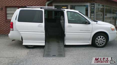 Used Wheelchair Van For Sale: 2007 Buick Terraza CX Wheelchair Accessible Van For Sale with a BraunAbility Dodge Entervan II on it. VIN: 4GLDV13127D151002