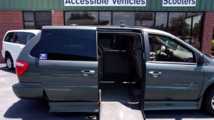 Used Wheelchair Van For Sale: 2002 Chrysler Town and Country LX  Wheelchair Accessible Van For Sale with a IMS - Dodge and Chrysler on it. VIN: 2C4GP44372R641371