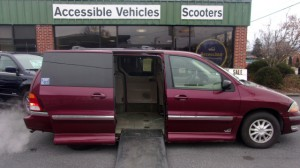 Used Wheelchair Van For Sale: 2000 Ford Windstar ES Wheelchair Accessible Van For Sale with a VMI - Dodge Northstar on it. VIN: 2FMZA5240YBB56367