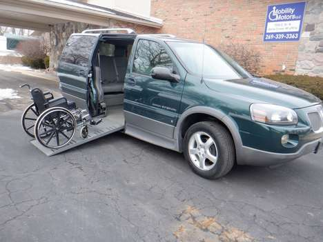 Used Wheelchair Van For Sale: 2006 Pontiac Montana Sv6 SE Wheelchair Accessible Van For Sale with a  on it. VIN: 1G5DV13L16D218102