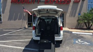 Used Wheelchair Van For Sale: 2011 Volkswagen Routan SE  Wheelchair Accessible Van For Sale with a Ryno Mobility - Ryno Mobility Rear Entry on it. VIN: 2V4RW3DG4BR691613