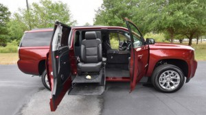New Wheelchair Van For Sale: 2016 GMC Yukon XL SLT  Wheelchair Accessible Van For Sale with a Ryno Mobility - Wheelchair Accessible Trucks on it. VIN: 1GKS1GKC7GR346837