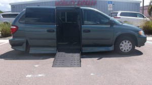 Used Wheelchair Van For Sale: 2007 Dodge Caravan  Wheelchair Accessible Van For Sale with a Rollx Vans - Rollx Fold Out Dodge on it. VIN: 1D4GP24E47B228287