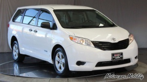 New Wheelchair Van For Sale: 2015 Toyota Sienna SE Wheelchair Accessible Van For Sale with a AutoAbility Wheelchair Van Conversions Rear Entry Toyota on it. VIN: 5TDZK3DCXFS535206
