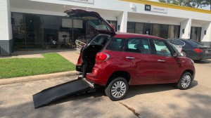 Used Wheelchair Van For Sale: 2014 Fiat 500L Easy Wheelchair Accessible Van For Sale with a Freedom Motors - Fiat 500 Wheelchair Accessible on it. VIN: ZFBCFABH7EZ028405