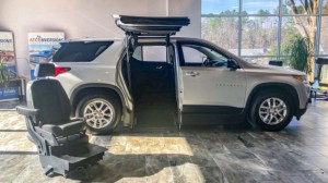 New Wheelchair Van For Sale: 2019 Chevrolet Traverse  Wheelchair Accessible Van For Sale with a ATC Wheelchair Truck Conversions - Chevy, GMC & Cadalliac Suv's on it. VIN: 1GNERFKW1KJ158464