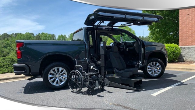 New Wheelchair Van For Sale: 2020 Chevrolet Silverado Crew Wheelchair Accessible Van For Sale with a ATC Wheelchair Truck Conversions - 1500 Chevy & GMC Trucks on it. VIN: 3GCPWBEK3LG141969