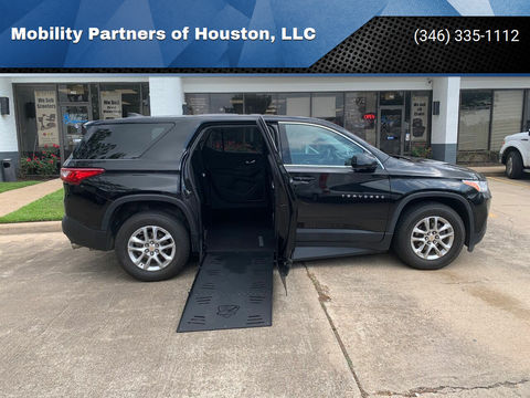 Used Wheelchair Van For Sale: 2018 Chevrolet Traverse LS Wheelchair Accessible Van For Sale with a  on it. VIN: 1GNERFKW0JJ159460