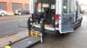 New Wheelchair Van For Sale: 2017 Ford Transit Wagon 350 XL Medium Roof  Wheelchair Accessible Van For Sale with a Non Branded - Mobility Services Transit Ambulette on it. VIN: 1FBAX2CM2HKA01794