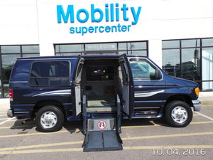 Used Wheelchair Van For Sale: 2003 Ford E-250  Wheelchair Accessible Van For Sale with a Ricon LIft on it. VIN: 1FDPE24LX3HB14993