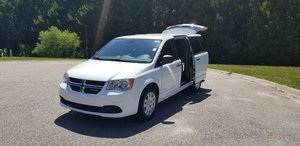 New Wheelchair Van For Sale: 2019 Dodge Grand Caravan SE Wheelchair Accessible Van For Sale with a Rear Entry on it. VIN: 2C4RDGBG6KR558331