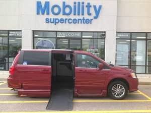 Used Wheelchair Van For Sale: 2015 Dodge Grand Caravan SXT Wheelchair Accessible Van For Sale with a VMI Summit on it. VIN: 2C4RDGCG9FR703270