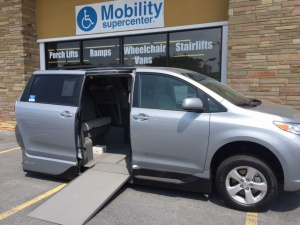 New Wheelchair Van For Sale: 2016 Toyota Sienna LE Wheelchair Accessible Van For Sale with a VMI Northstar on it. VIN: 5TDKK3DC0GS694737
