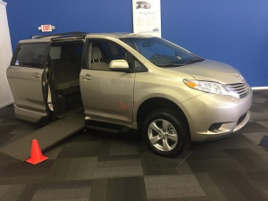 New Wheelchair Van For Sale: 2017 Toyota Sienna LE Wheelchair Accessible Van For Sale with a  on it. VIN: 5TDKZ3DC4HS785331