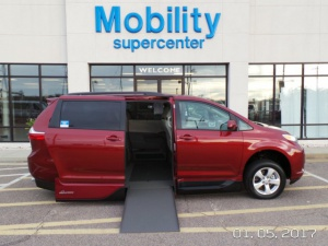 New Wheelchair Van For Sale: 2017 Toyota Sienna LE Wheelchair Accessible Van For Sale with a  on it. VIN: 5TDKZ3DC6HS775013