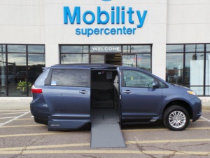 New Wheelchair Van For Sale: 2017 Toyota Sienna XLE Wheelchair Accessible Van For Sale with a  on it. VIN: 5TDYZ3DC2HS786472