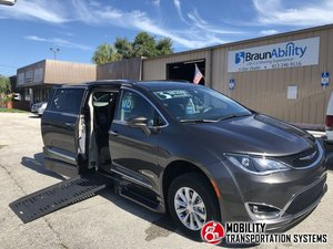 Used Wheelchair Van For Sale: 2019 Chrysler Pacifica Touring Wheelchair Accessible Van For Sale with a BraunAbility Chrysler Pacifica Foldout XT on it. VIN: 2C4RC1BG9KR547842