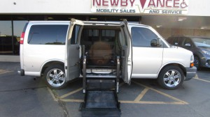 Used Wheelchair Van For Sale: 2010 Chevrolet Express  Wheelchair Accessible Van For Sale with a BraunAbility - Chevrolet Entervan on it. VIN: 1GNUGCD46A1184407