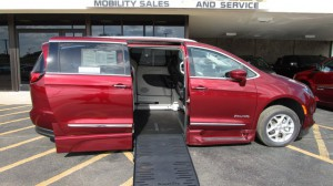 New Wheelchair Van For Sale: 2019 Chrysler Pacifica Touring Wheelchair Accessible Van For Sale with a BraunAbility - Chrysler Entervan XT on it. VIN: 2C4RC1EG4KR708285