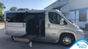New Wheelchair Van For Sale: 2019 Ram Promaster S Wheelchair Accessible Van For Sale with a  on it. VIN: 3C6TRVAGXKE504617