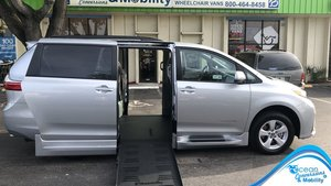 New Wheelchair Van For Sale: 2020 Toyota Sienna SE Wheelchair Accessible Van For Sale with a BraunAbility Toyota Rampvan XL on it. VIN: 5TDKZ3DCXLS063483