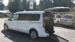 Used Wheelchair Van For Sale: 2014 Ford Transit Connect Wagon XLT w/Rear Liftgate LWB  Wheelchair Accessible Van For Sale with a  on it. VIN: NM0GE9F79E1160224