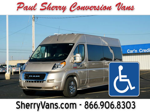 New Wheelchair Van For Sale: 2020 Ram Promaster High Roof Wheelchair Accessible Van For Sale with a  on it. VIN: 3C6TRVPG7LE135949