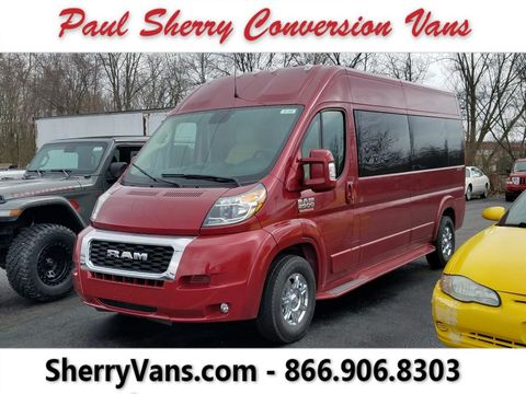 New Wheelchair Van For Sale: 2021 Ram Promaster High Roof Wheelchair Accessible Van For Sale with a  on it. VIN: 3C6LRVPG9ME511553