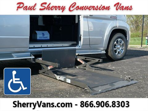New Wheelchair Van For Sale: 2020 Ram Promaster High Roof Wheelchair Accessible Van For Sale with a  on it. VIN: 3C6TRVPG1LE139530