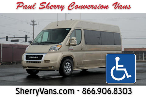 New Wheelchair Van For Sale: 2020 Ram Promaster High Roof Wheelchair Accessible Van For Sale with a  on it. VIN: 3C6TRVPG5LE135948