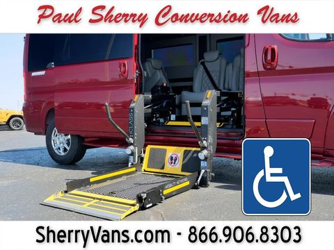 New Wheelchair Van For Sale: 2020 Ram Promaster High Roof Wheelchair Accessible Van For Sale with a  on it. VIN: 3C6TRVPG9LE139534