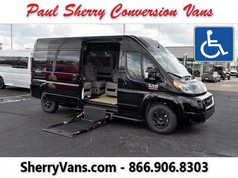 New Wheelchair Van For Sale: 2020 Ram Promaster High Roof Wheelchair Accessible Van For Sale with a  on it. VIN: 3C6TRVPG3LE139528
