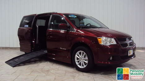 Used Wheelchair Van For Sale: 2019 Dodge Grand Caravan SXT Wheelchair Accessible Van For Sale with a BraunAbility Dodge CompanionVan on it. VIN: 2C4RDGCG0KR543709